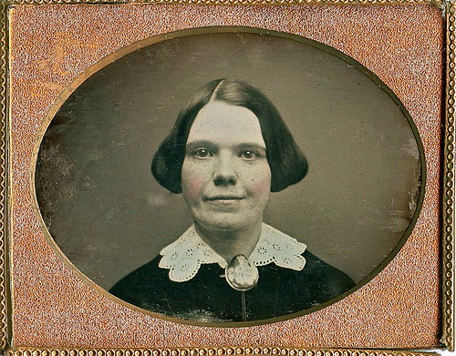 Bright Eyes and a Smile, 1/9th-plate Daguerreotype, Circa 1852