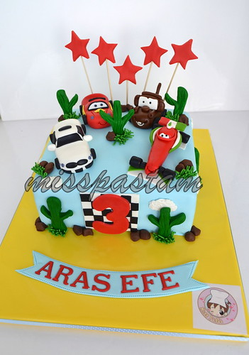 cars cake by MİSSPASTAM