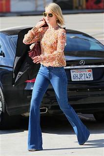 Ali Larter Flared Jeans Celebrity Style Women's Fashion