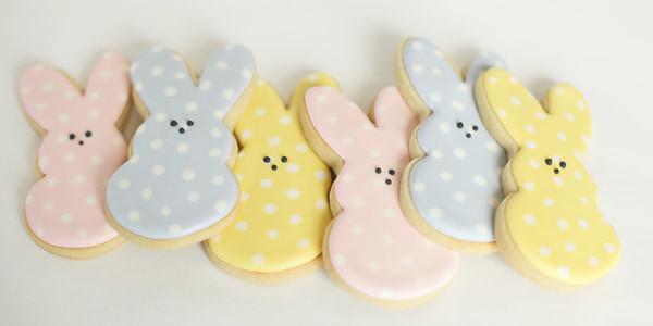 polka dot bunny cookies 2