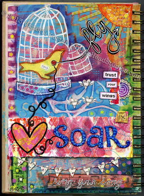 """Soar & Fly"" Art Journal Page : Full"
