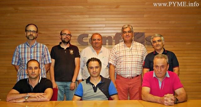Nueva Junta Directiva de la Asociación de Empresarios de Instalaciones Eléctricas y Telecomunicaciones de Salamanca (AESLUX), integrada en la patronal salmantina CONFAES.