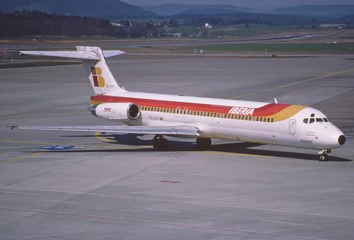 15bo - IBERIA MD-87; EC-EYZ@ZRH;15.03.1998