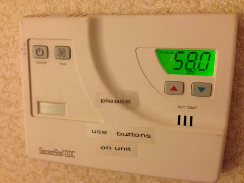 A Tad Chilly in the Hotel Room