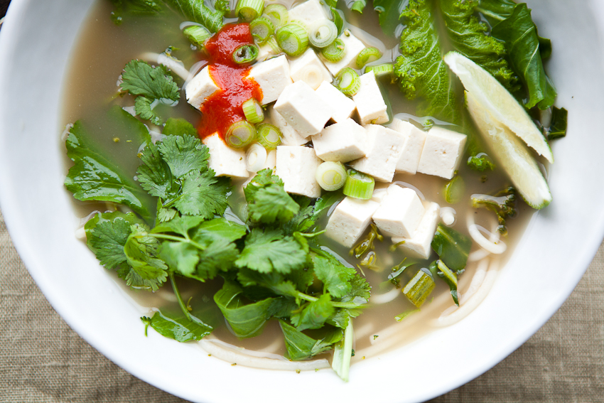 Pho with Tofu and Winter Greens