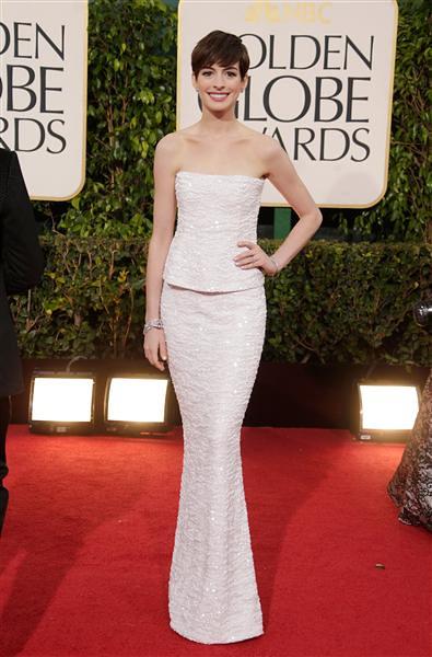 Golden Globe Anne Hathaway 2013