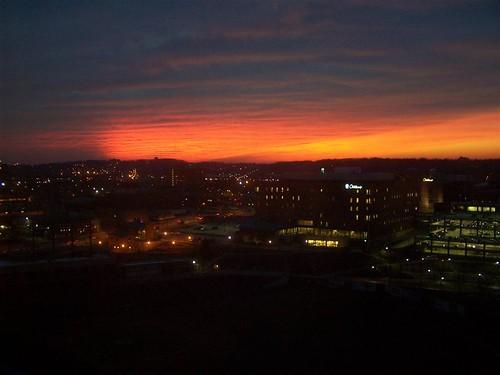 sunset sky akronohio