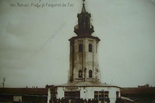 Tecuci, piata si foisorul de foc - 1920