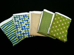 green burp cloths