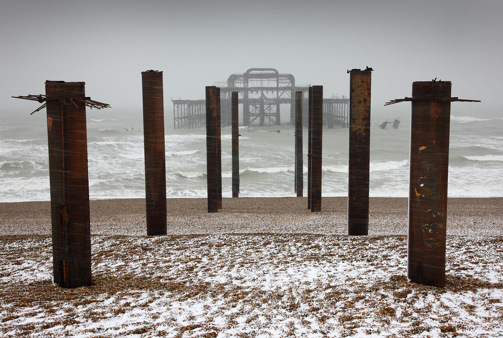 West Pier, Brighton in January Snow