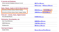 "Catalog results are listed under theading ""Books, Ebooks, Media in UIUC and Illinois Libraries"""