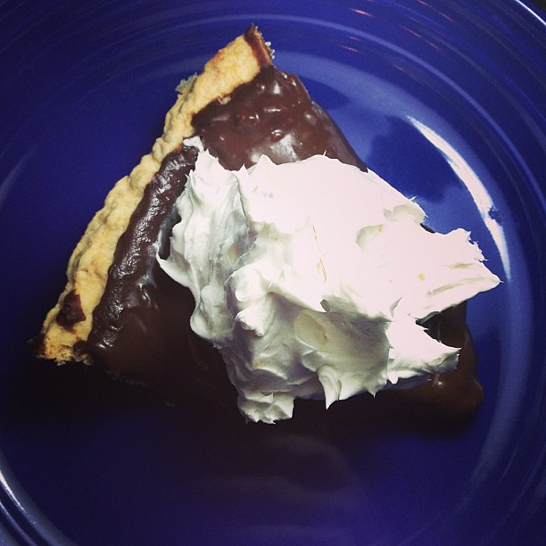 Dessert: Chocolate-Coconut  Pudding Pie with MimicCreme Whipped Topping #vegan