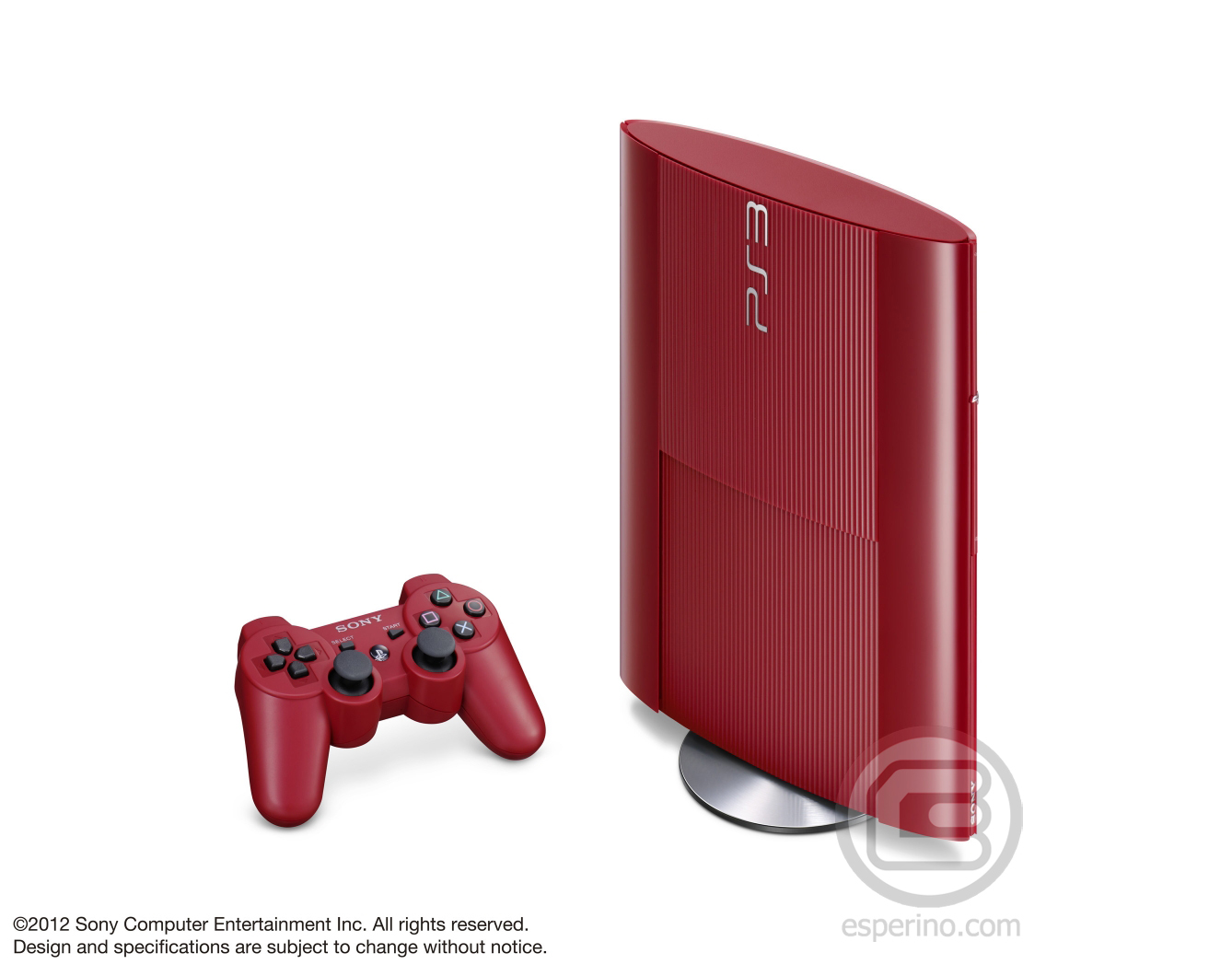 PS3 Super Slim Red 3