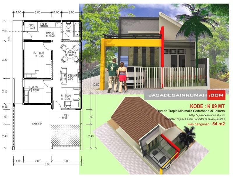 Rumah Tropis Minimalis Sederhana di Jakarta Jasa Desain Rumah