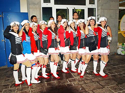 Sailors at Santa Cruz Carnival