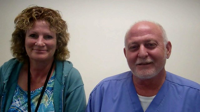 Sharon Marrs—Nurse Clinician III, and Thomas Stewart—Medical Assistant, are both at the UHC 5th FL Clinics