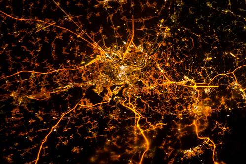 Liege, Belgium at Night (NASA, International Space Station, 12/08/12)