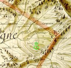 Extrait du Plan Terrier pour le secteur de San Martinu du Haut-Cavu