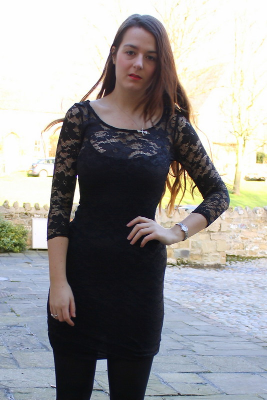 Chiara Fashion black lace dress