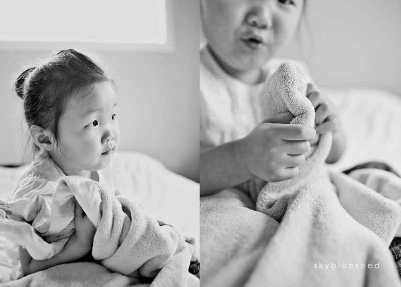 With Blankie BW