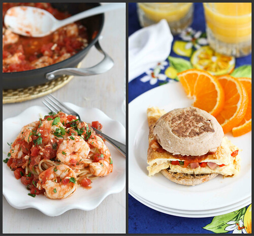 New Recipes: Roasted Shrimp, Shrimp Pita, Naan Pizza & Onion Tart