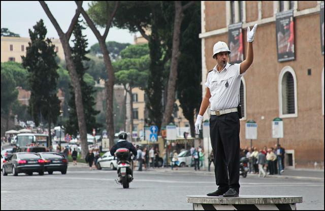 Traffic Regulator, Rome, Italy