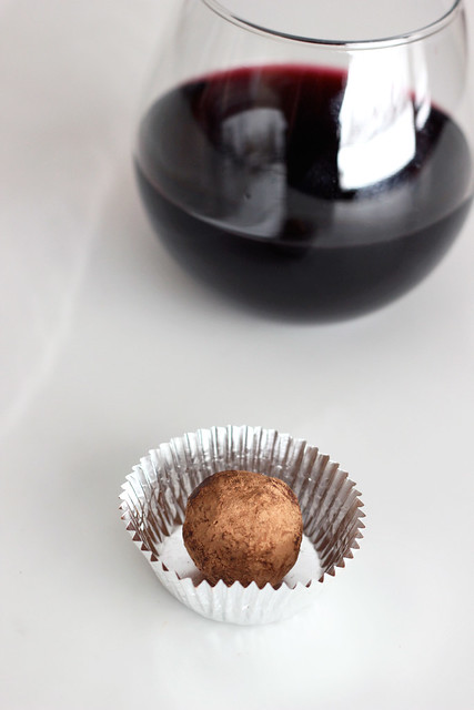 Dark Chocolate Red Wine Truffles - Gluten-Free + Vegan