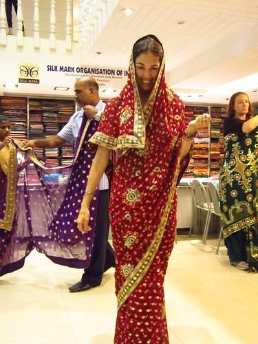 Flora in a sari