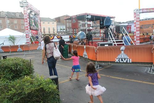 Day 180: Taking children for a stroll down Bourbon Street.