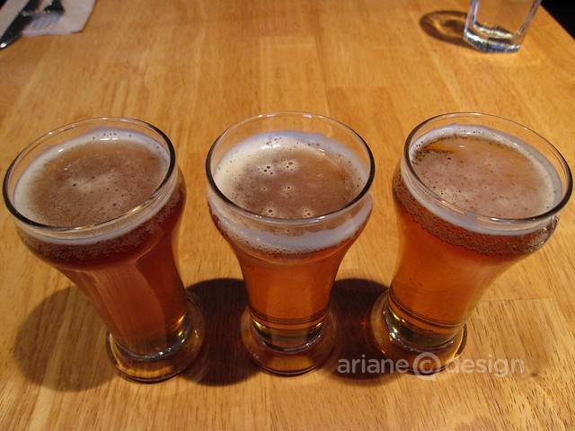 L to R: Elysian Red, Driftwood Fat Tug IPA, Phillips Blue Buck