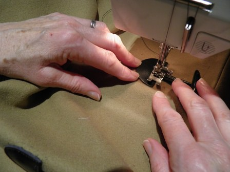 Stitching leather toggle