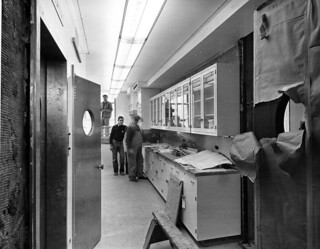 North View in Pantry on First Floor of White House During the Renovation, 01/23/1952