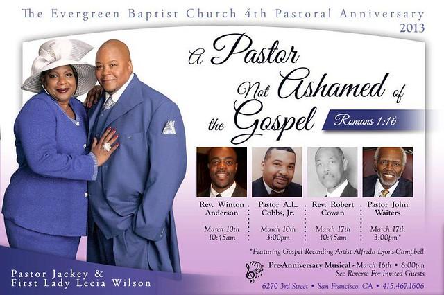 Christian events calendar the gospel ad remix pastoral anniversary a pastor not ashamed of the gospel altavistaventures Gallery