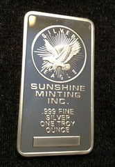 Fake Sunshine Mint Silver bar