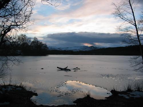 winter ice scotland loch ballater cairngorms crannog deeside cairngormsnationalpark dinnet kinord lochkinord