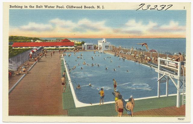 Bathing in the salt water pool cliffwood beach n j - Public swimming pools in edison nj ...
