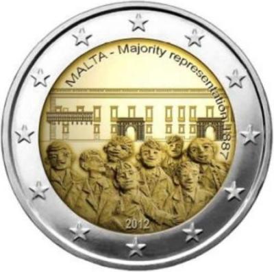 *2 Euro Malta 2012, Väčšinové zastúpenie 1887