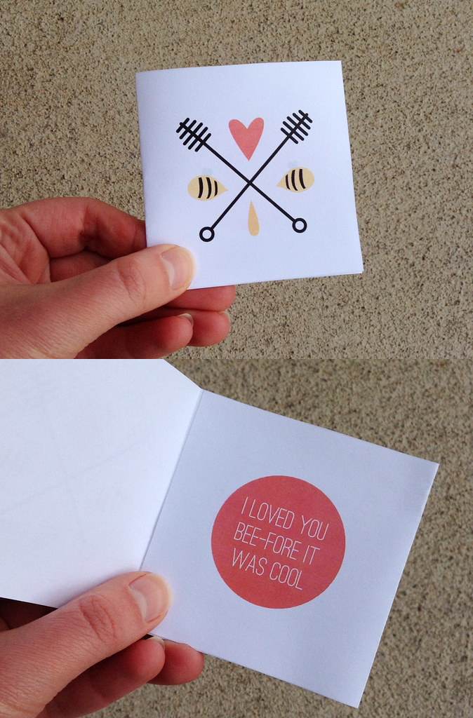 Hipster Honeybees Printable Valentines