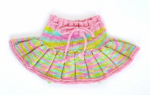 Easter Rainbow Pleated Wool Skirty
