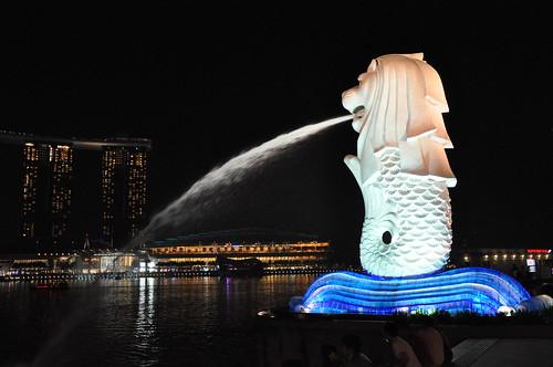 Singapore Merlion at Marina Bay
