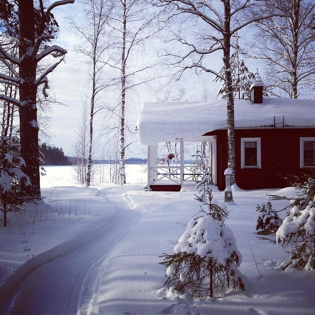 Mökille talvella