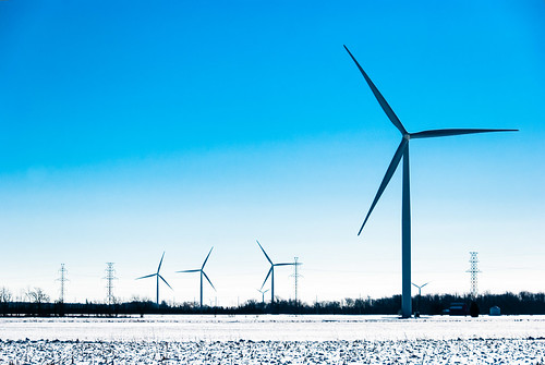 Southwestern Ontario wind turbines in Winter - #48/365 by PJMixer