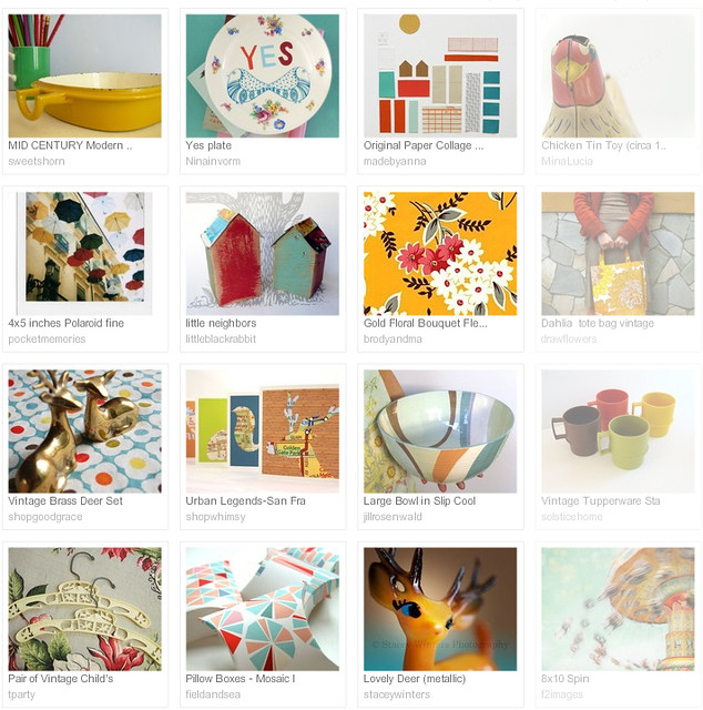 Colour me happy, Etsy treasury curated by Emma Lamb