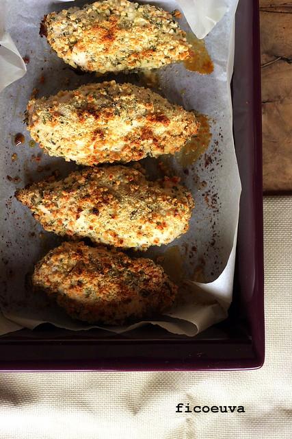 pollo gratinato alle mandorle
