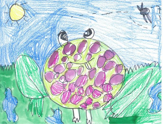Emma's Frog Masterpiece!