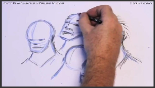 learn how to draw characters in different positions 015