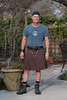 Kilted in the garden