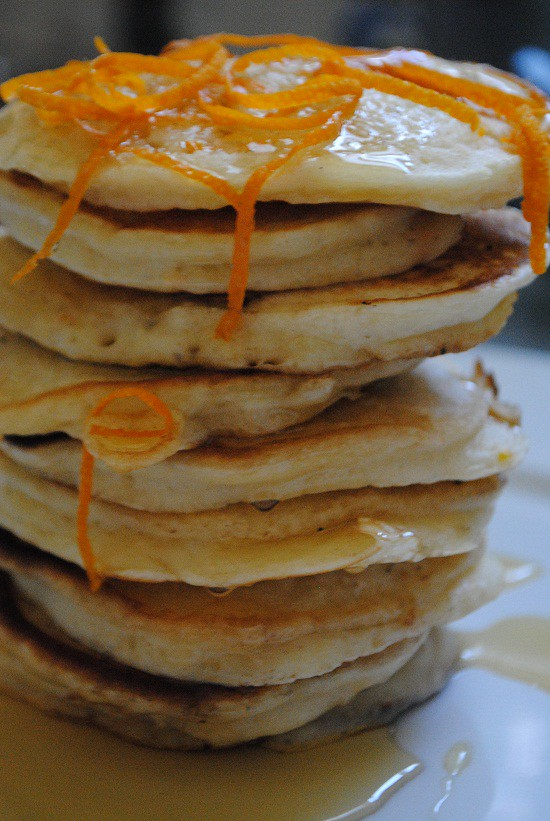 Buttermilk Pancakes with Orange Zest | My Halal Kitchen