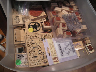 one drawer of stamps
