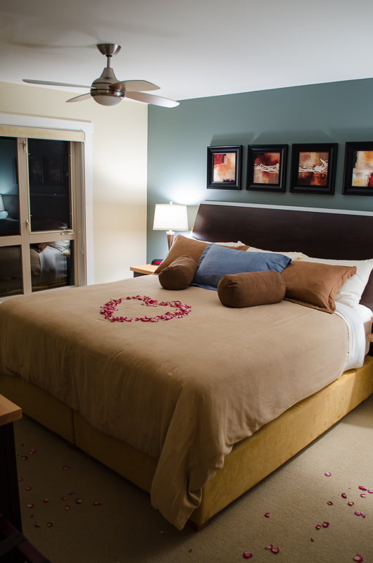 Painted Boat Resort Villa Main Bedroom with Rose Petals